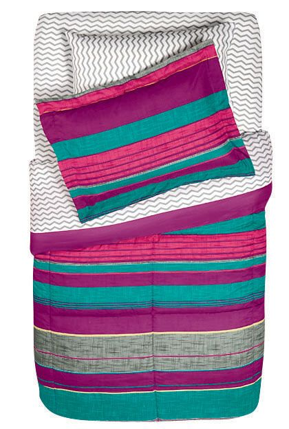 Soft Lofty Purple Teal And Gray Stripe Stripe Comforter Set Beauteous Shopko Decorative Pillows