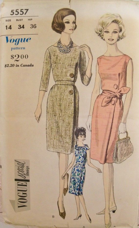 5710cf6ef FAB 1960s VOGUE SPECIAL DESIGN Dress Pattern