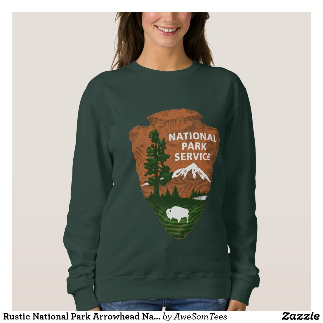 Rustic National Park Arrowhead Nature Sweatshirt Zazzle