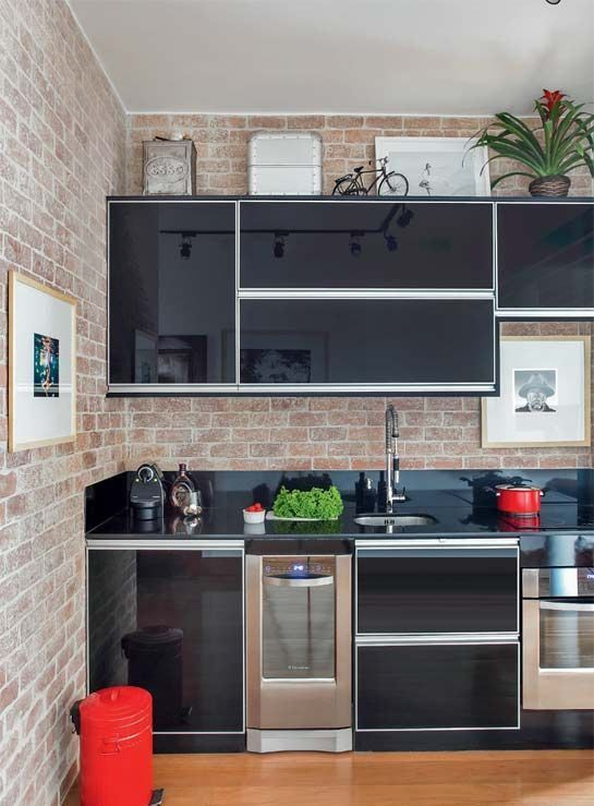 Bancadas Com Granito Preto Absoluto Design De Cozinha Moderna
