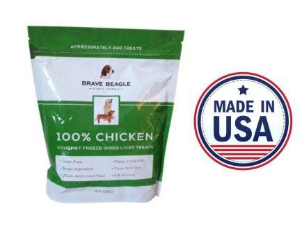 100% Chicken Liver Gourmet Dog Treats   Healthy, Made in the USA, and Tasty!  #bravebeagle