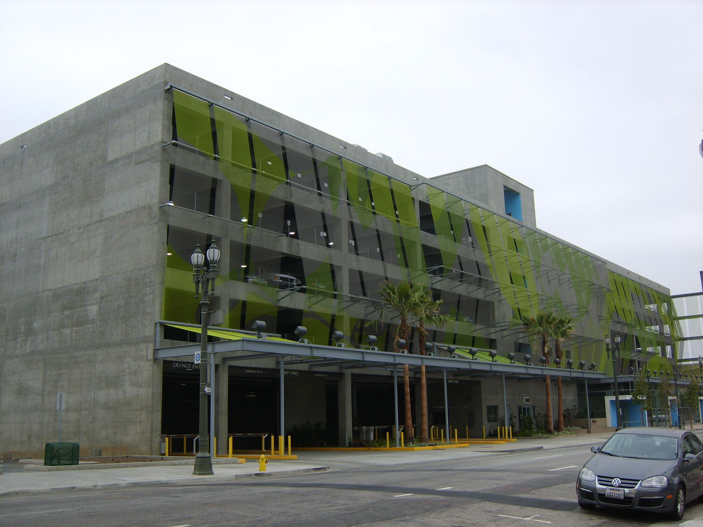 A Carpark In Downtown La Parking Building Car Park Design Garage Design