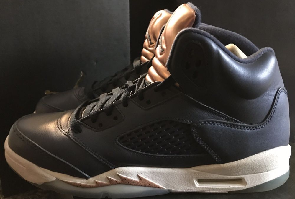 8d88272cc043 AIR JORDAN 5 RETRO BG  Bronze  Sz 7Y  440888 416  Concord Space Jam ...