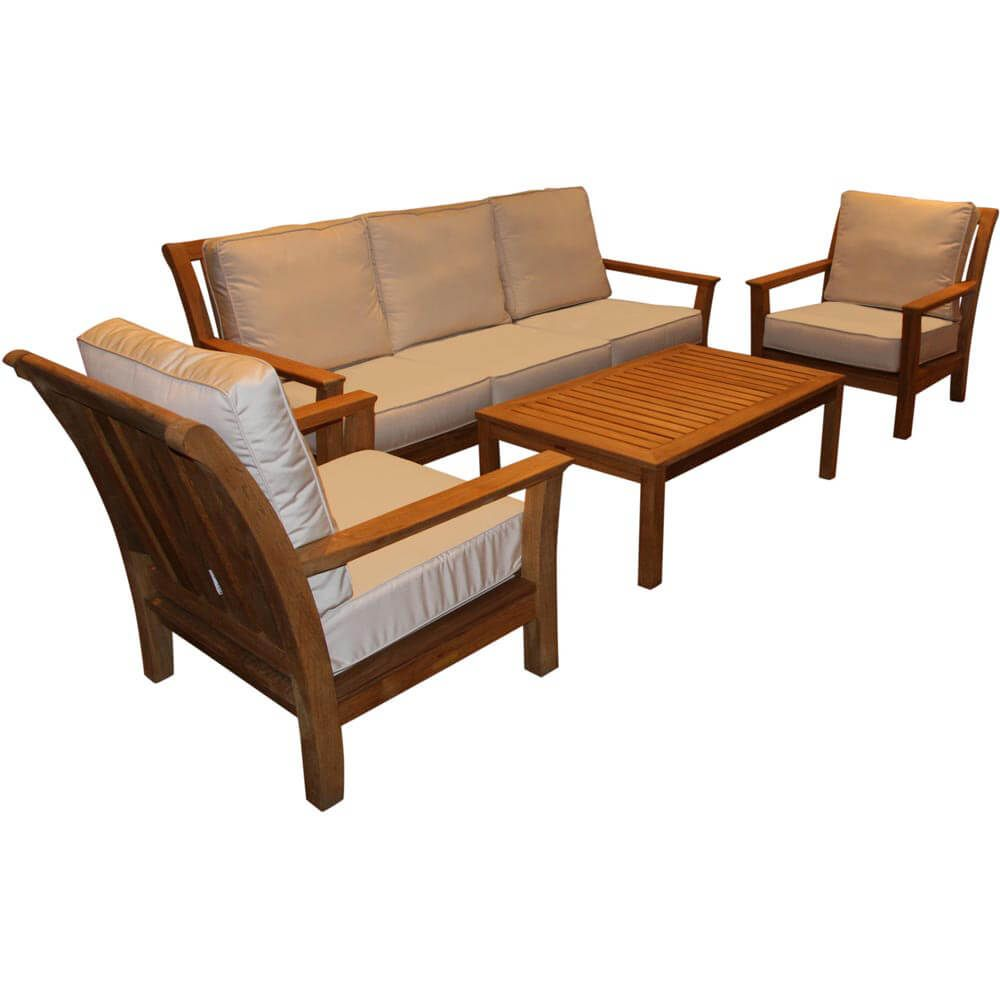 Kingsley-Bate Chelsea 4-Piece Deep Seating Set with 45 | Furniture ...