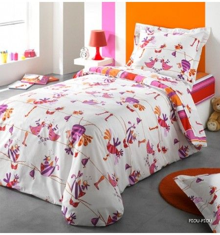 housse de couette enfant piou piou parures de lit enfant. Black Bedroom Furniture Sets. Home Design Ideas