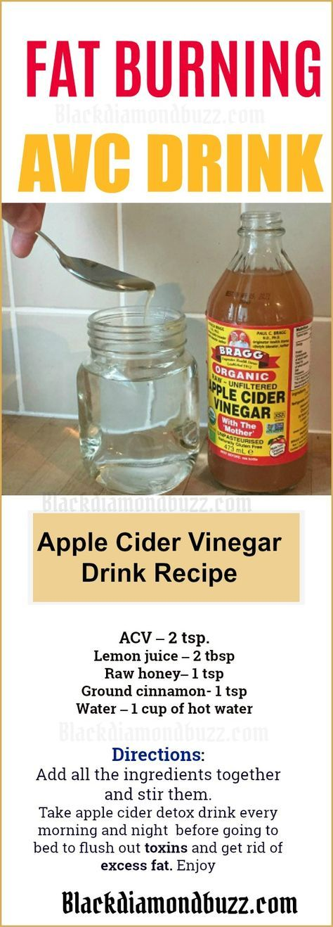 How to Drink Apple Cider Vinegar for belly fat and body fat