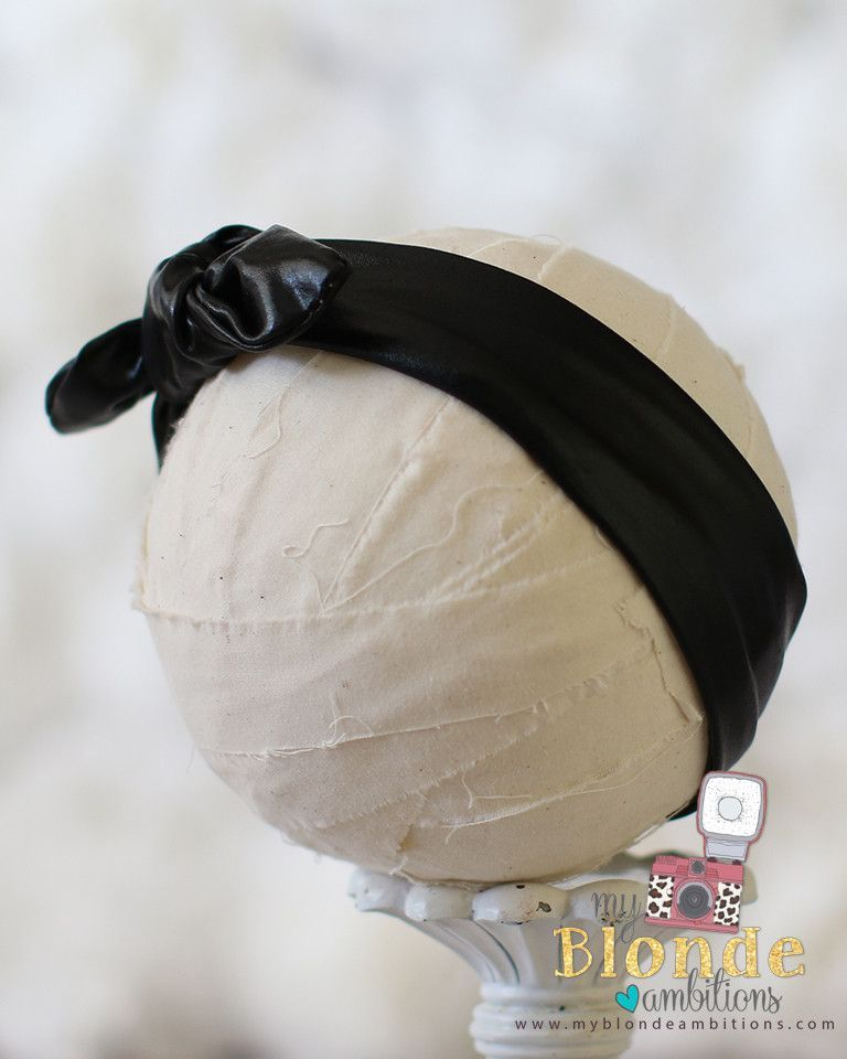 Black Metallic Aunt Jemimah Headband