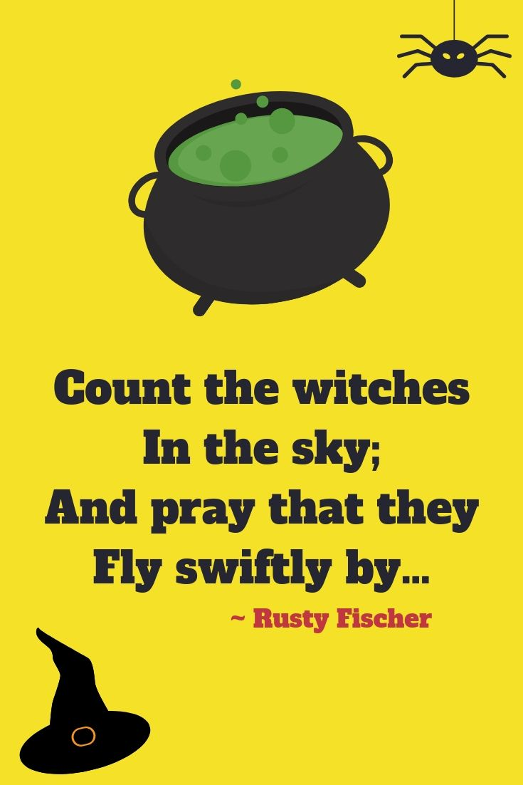 count the witches a halloween poem | halloween pictures & sayings