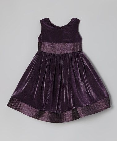 Take a look at this Purple Tea Time Silk Dress - Toddler & Girls by Moo Boo's on #zulily today!