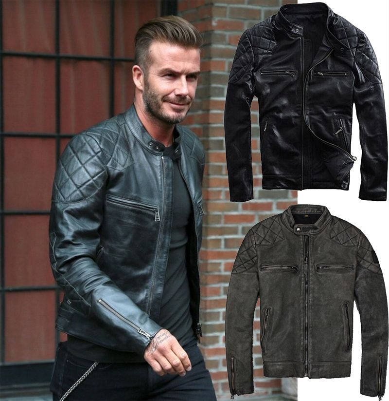 Find More Leather & Suede Information about Factory Beckham Men ...