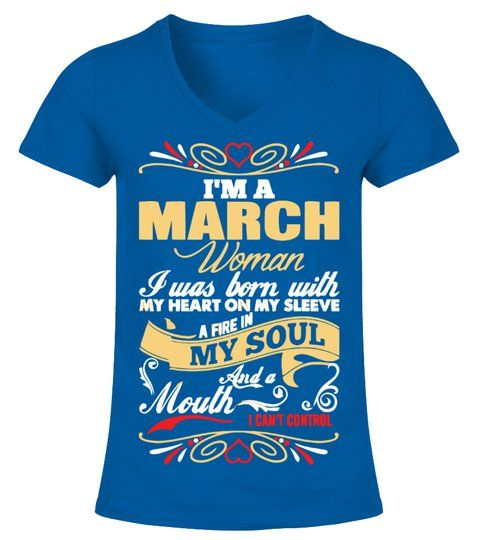 Woman T-shirts march woman t shirt
