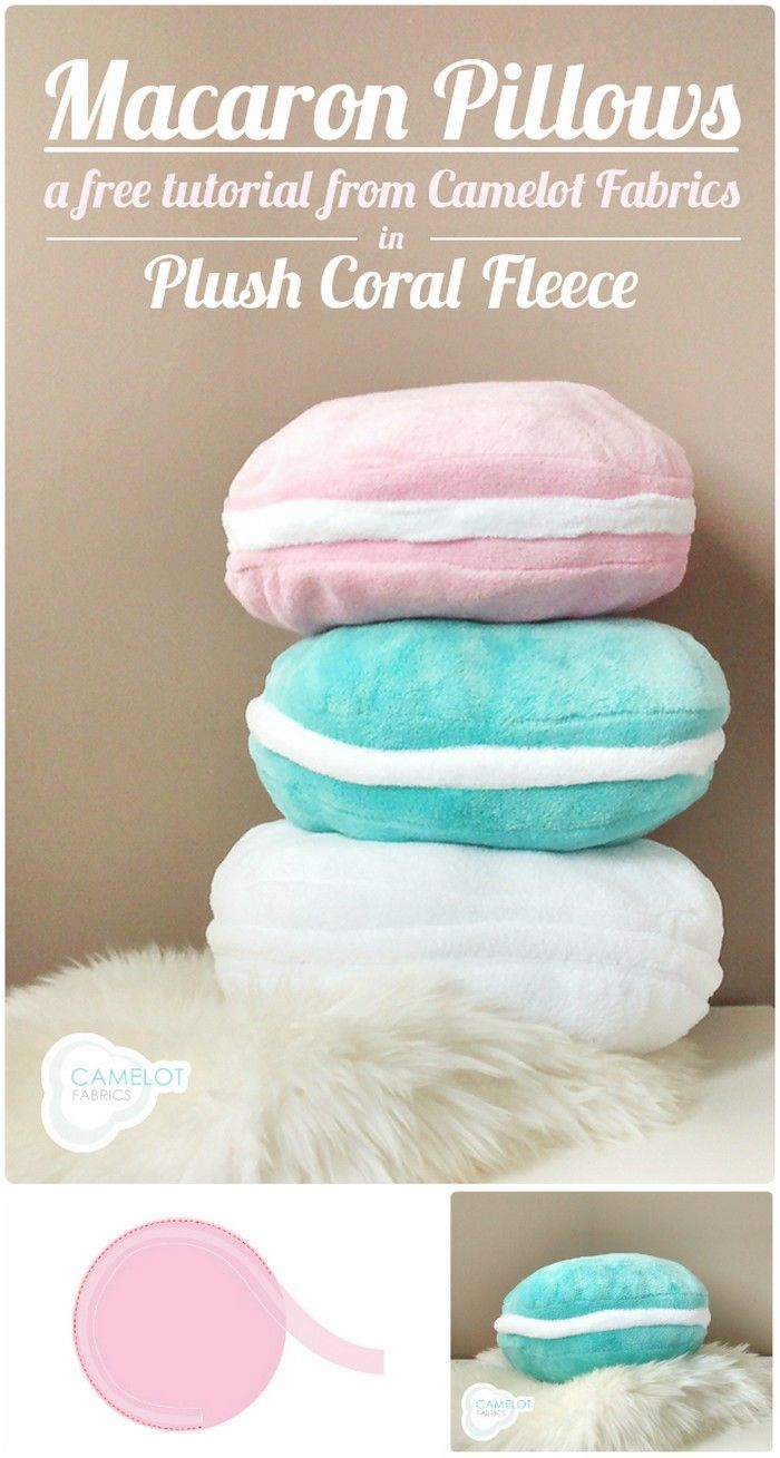 Diy macaron pillows tutorial fabricmisc patternsprojects