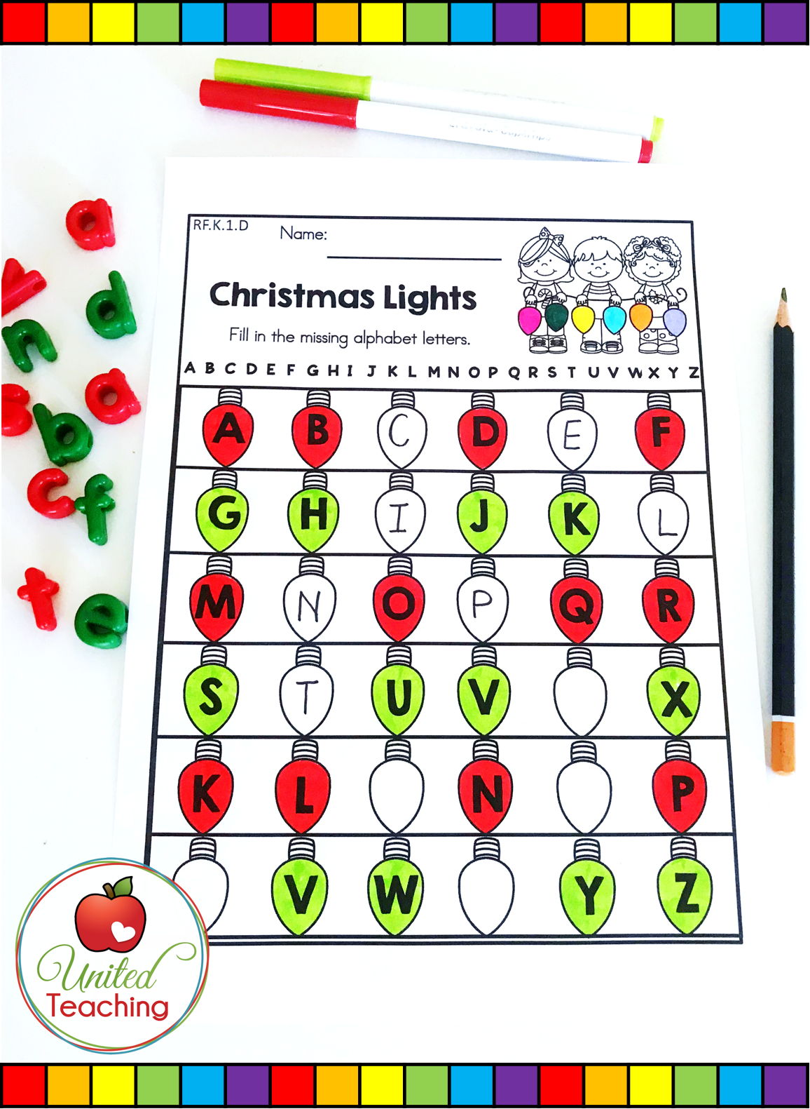 Christmas Math And Literacy Kindergarten No Prep