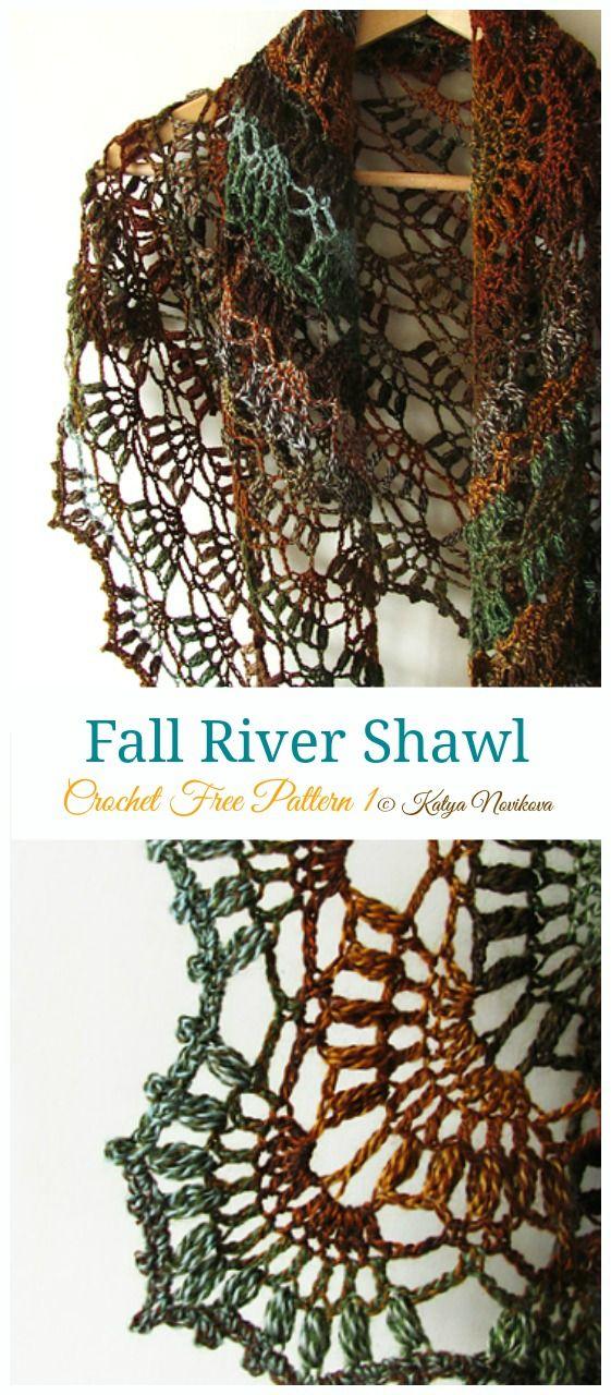 Fall River Shawl Crochet Free Pattern - Lace Shawl - Crochet & Knitting