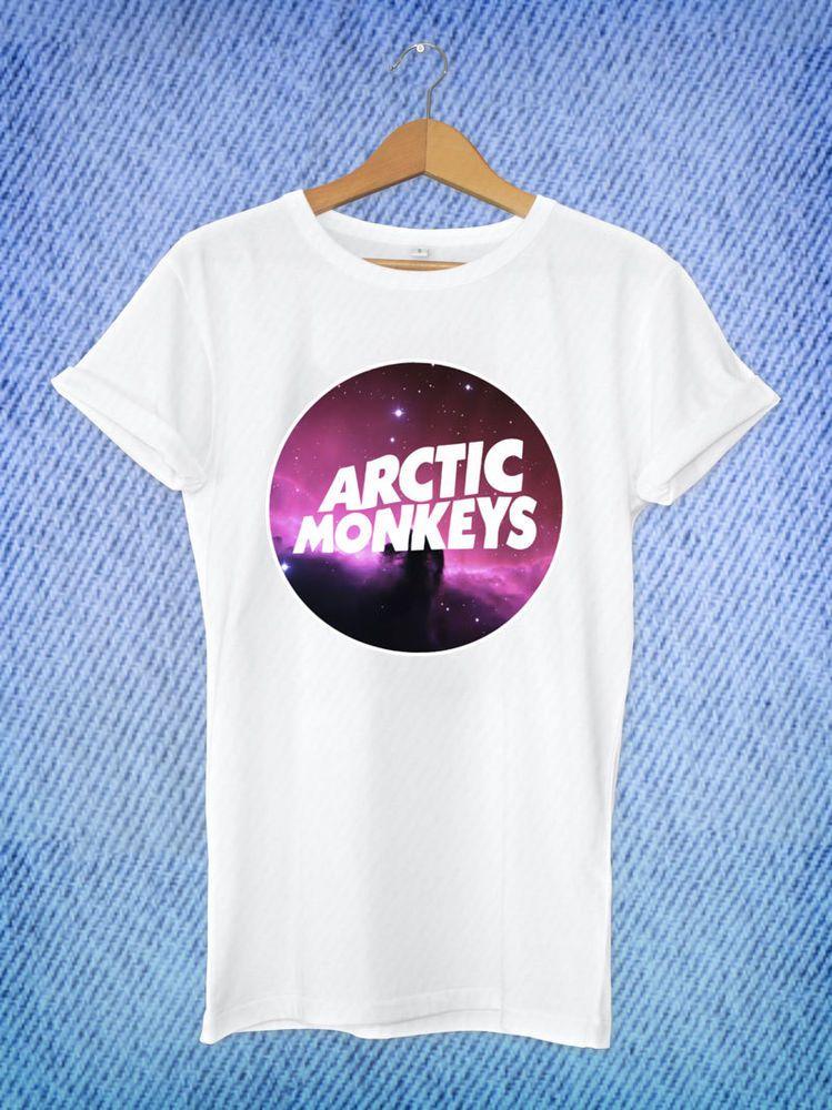 Arctic Monkeys Galaxy Logo Music Band Tour Dates White T-Shirt Unisex Size S-XL #Unbranded #BasicTee
