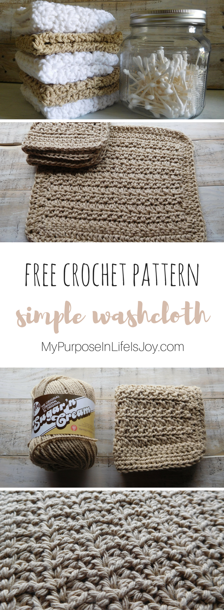Crochet Washcloth- Simple Free Crochet Pattern and Instructions ...