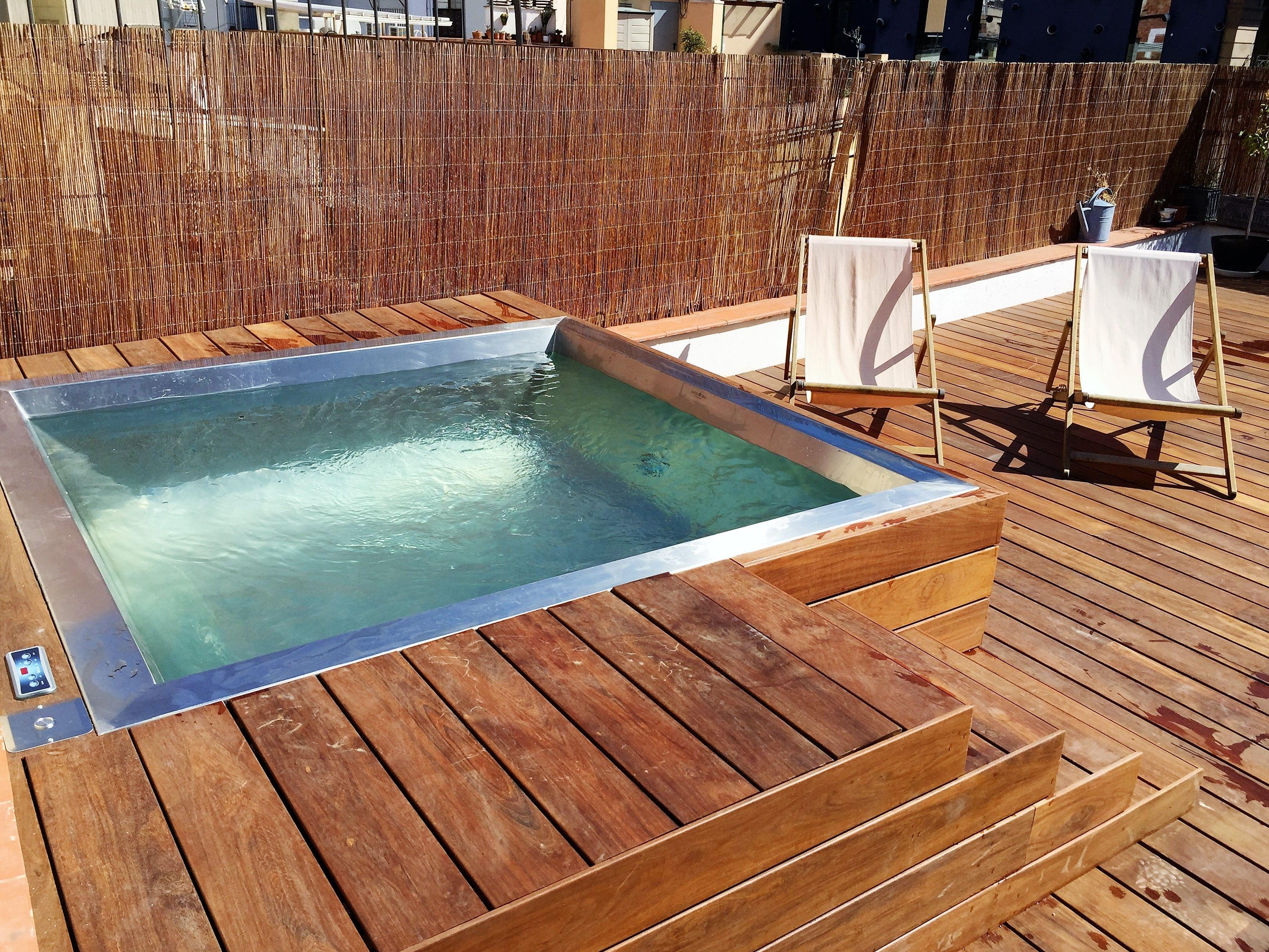 Spa de acero inoxidable de lujo instalada en barcelona piscinas spas hidromasaje piscinas - Piscina en barcelona ...