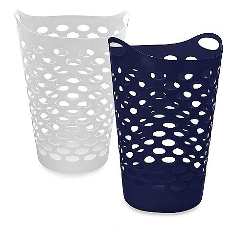 Tall Plastic Laundry Basket Interesting White Hamper From Bedbath&beyond Httpwwwbedbathandbeyond Design Inspiration