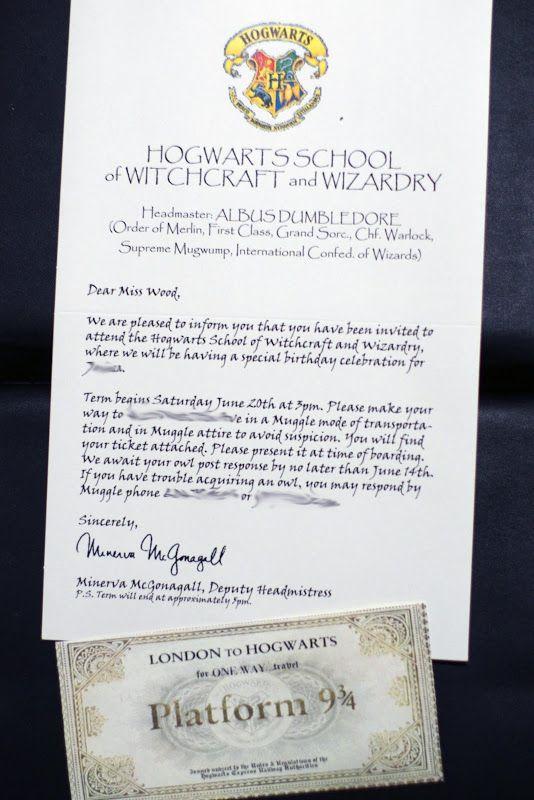 Harry Potter Kids Party Invitations 1 Crafty Harry Potter