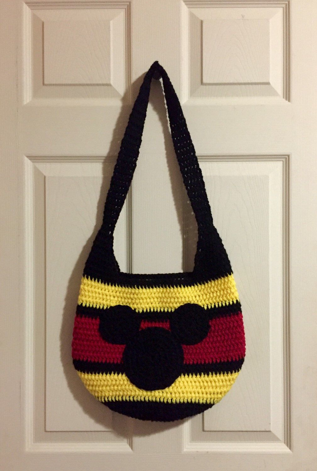 Mickey Mouse Crochet Bag | Crochet Minnie/Mickey Mouse | Pinterest ...