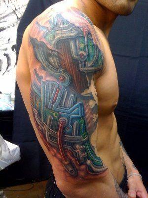 Robot Tattoo Robotic Arm Tattoos | tattoos | Cyborg tattoo ...