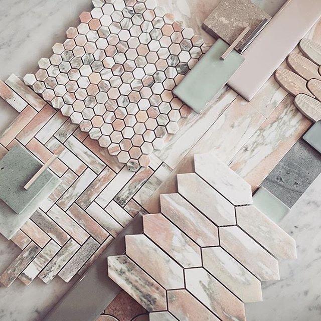 Marble Pink Grey Pink Master Bathroom Tile Inspiration Pink Bathroom Tiles