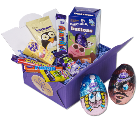 Perfect kids easter hamper from cadbury candy jars pinterest send chocolate gifts for any occasion from cadbury gifts direct cadburys online gift service delivers to your door overseas and to the uk negle Images