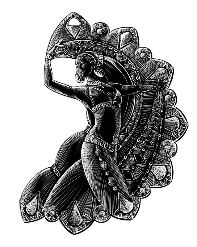 Bijoux orientaux bijou jewel dessin danse oriental - Danseuse orientale dessin ...