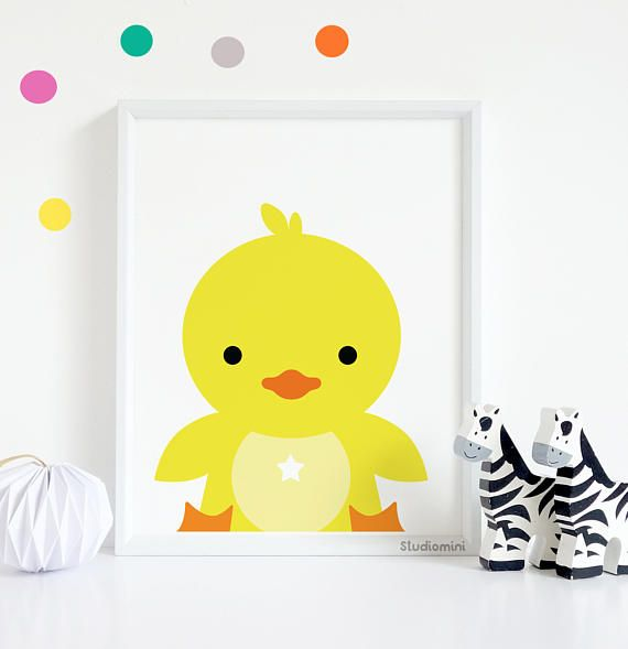 Nursery Prints, SALES Cute ducky Print, Nursery Decor, Nursery Wall ...