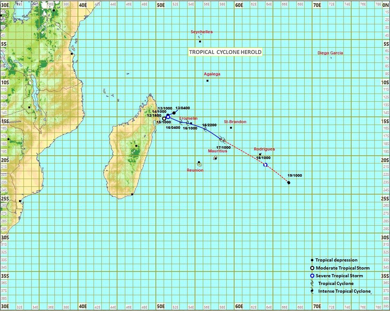 Cyclone Herold L Alerte 2 Maintenue A Rodrigues En 2020