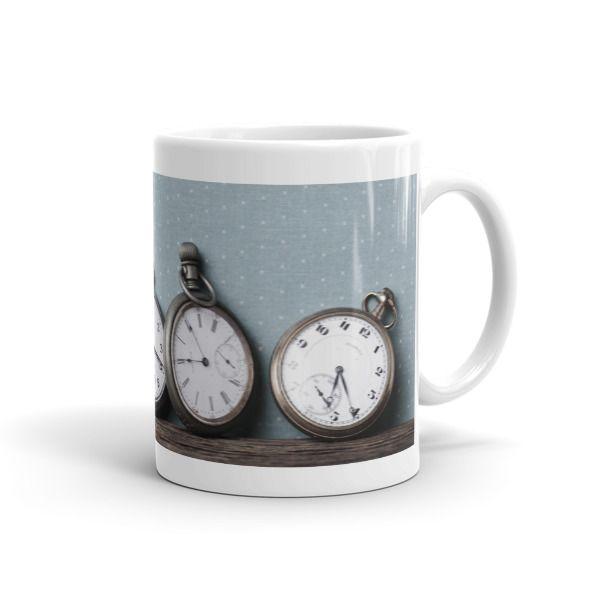 Vintage Pocket Watch Mug - Dogford Studios