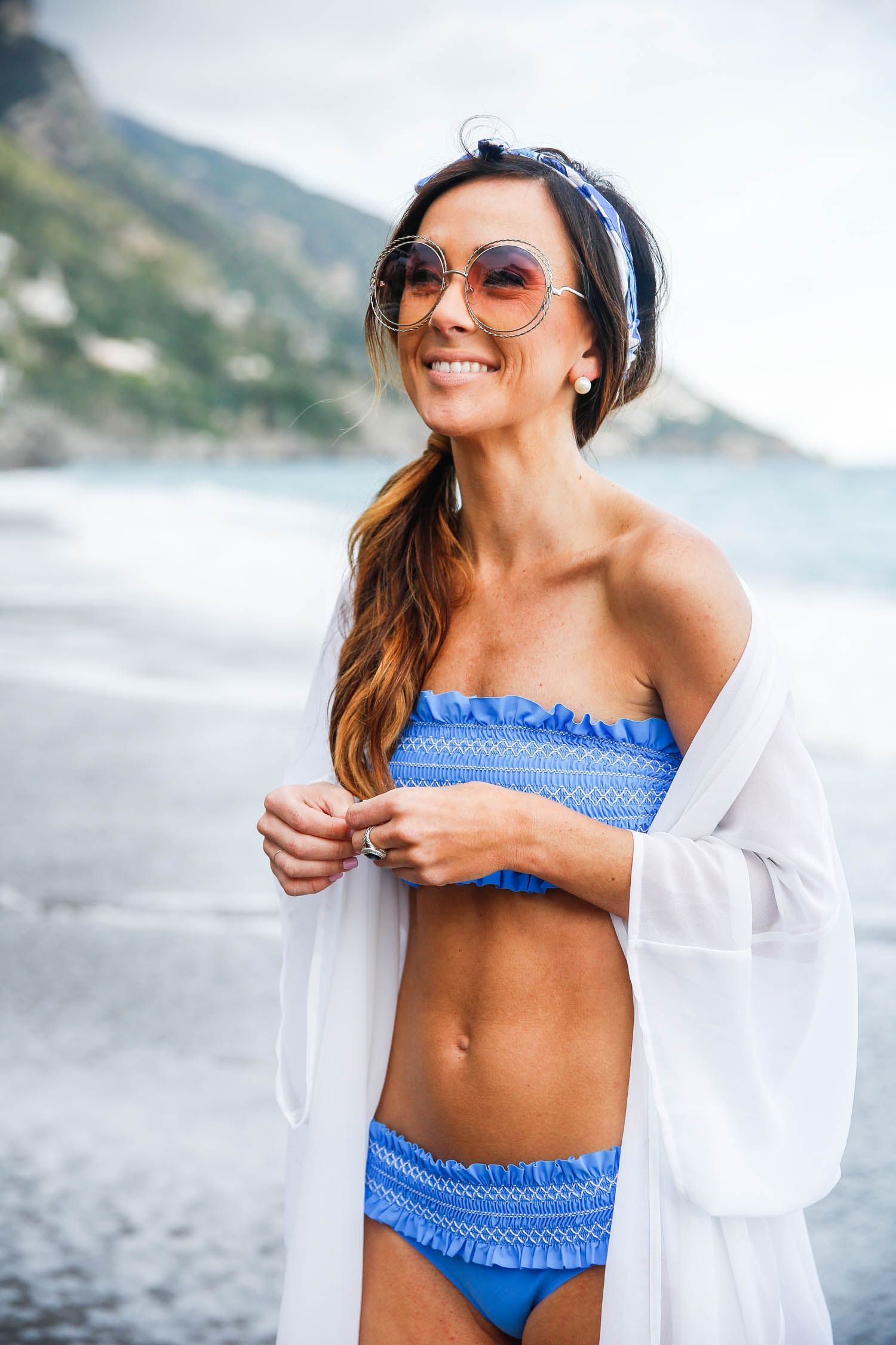 enjoy bottom price retail prices online for sale Blue Bathing Suit On Sale in Positano | AlysonHaley.com ...