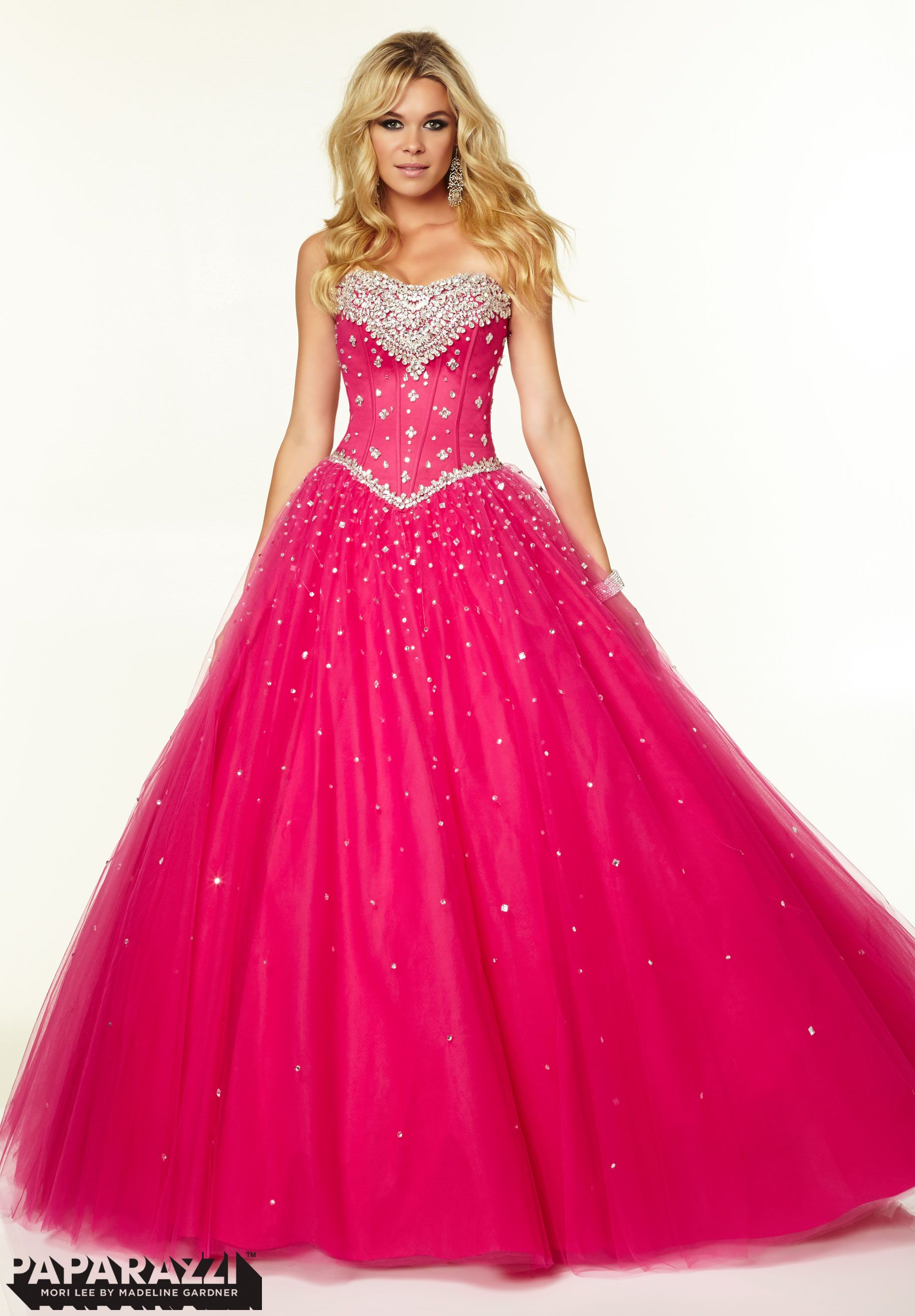 Prom Dresses / Gowns Style 97002: Crystal Beading on Tulle Ballgown ...