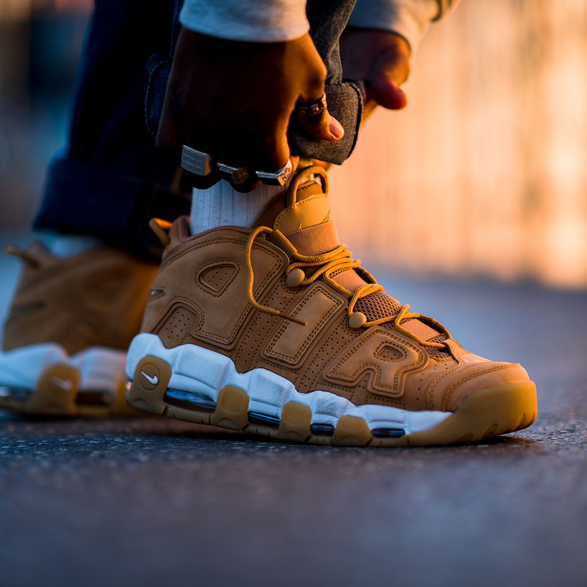 b9a6b0ad6d The legendary Nike Air More Uptempo '96 PRM in 'Flax' colorway. Now  available at KICKZ.com