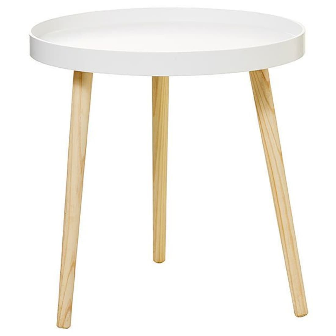 Round Side Tray Table White Tray Table White Side Tables