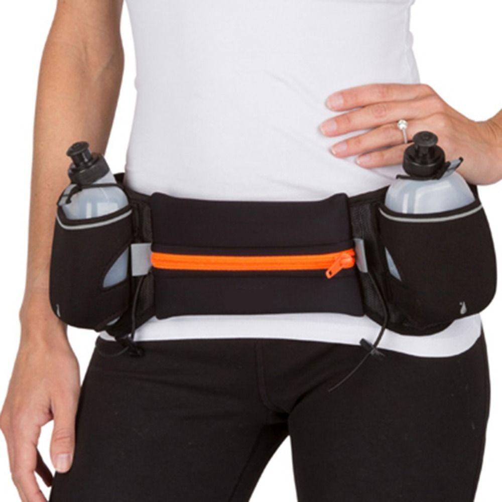 Run Bag For I Phone 5s Unisex Outdoor Sports Running Belt Bag Holder Mobile marathon Walking Running Waist With 2 Water Bottle