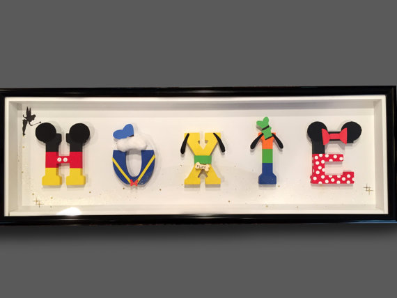 Disney Framed Painted Letter Pictures, 5-9 Letters Only, Any ...