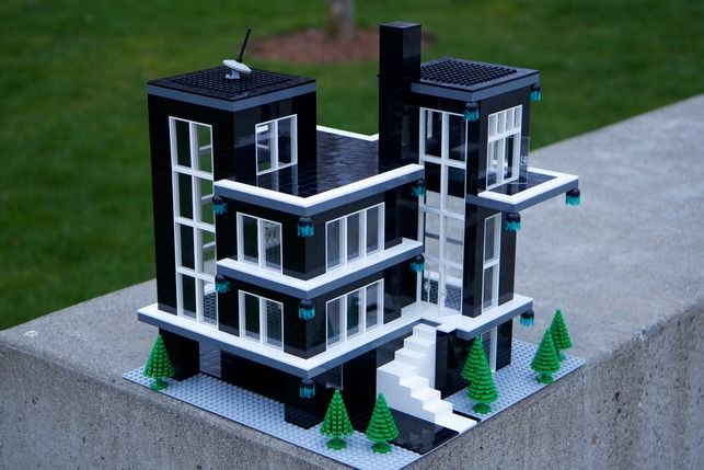 Modern home design contest by lego local planet lego for Modernes lego haus