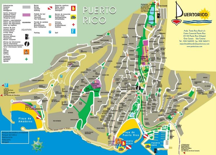 Map Of Spain Gran Canaria.Puerto Rico De Gran Canaria Hotel Map Maps Puerto Rico Gran