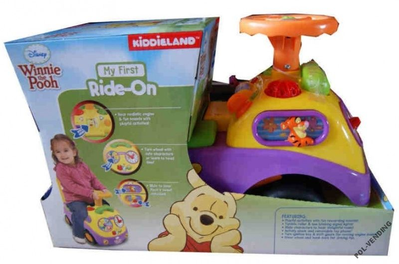 Kiddieland Kubus Puchatek Jezdzik Pchacz Disney 3679642884 Oficjalne Archiwum Allegro Pooh Frosted Flakes Cereal Box Winnie