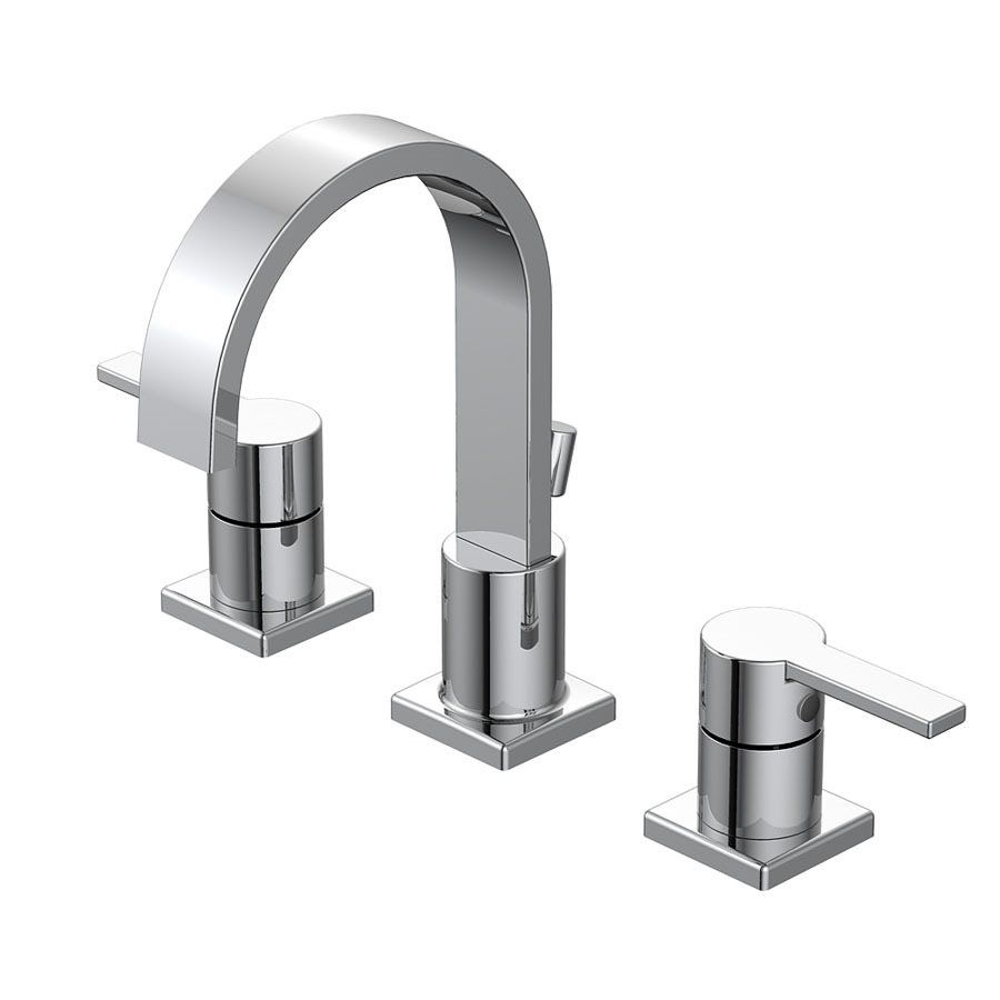 Shop AquaSource Chrome 2-Handle Widespread WaterSense Bathroom Sink ...