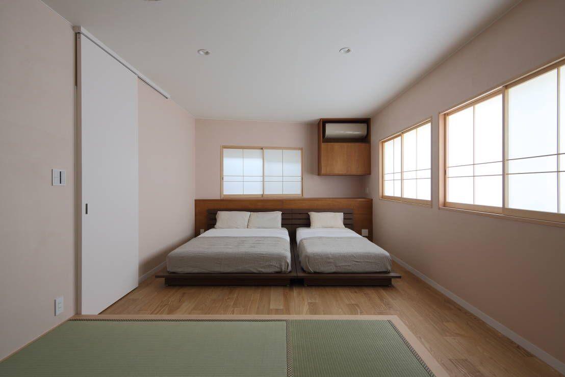 エアコン 建具 収まり 寝室 たたみコーナー ベッド