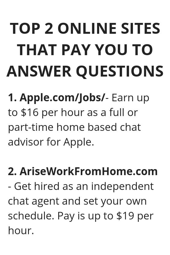 Top 2 Online Sites That Pay you To Answer Question