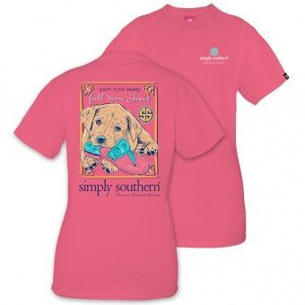 Simply Southern Puppy Flip Flop Short Sleeve Tee Simply
