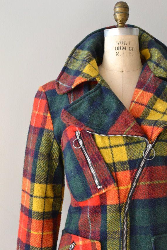 Buchanan Plaid coat / vintage 1970s plaid coat / by DearGolden