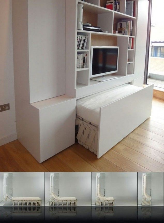 Bedroom Space Saving Ideas: 15 Original Space Saving Beds Show How Much Space A Single
