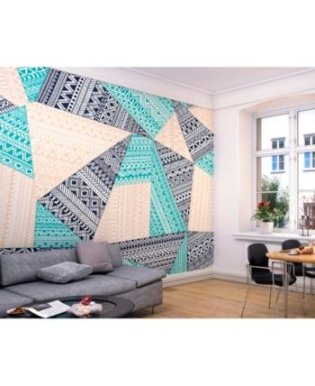 ohpopsi Geometry pattern shapes and triangles Wall Mural Wall Art