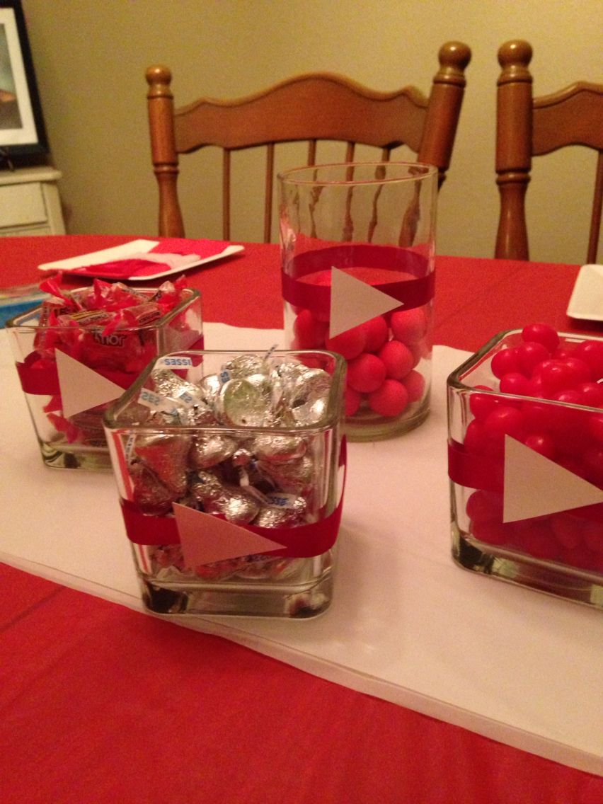 Youtube Party Decorations Birthday Dinner Party Tween Birthday Party 7th Birthday Party Ideas