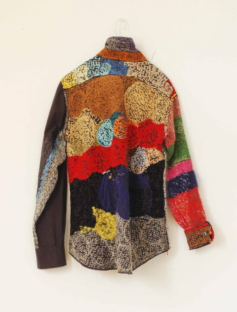 Sachie Takada of Kagoshima City, Japan - Nui Project's dazzling textiles and shirts, stitched by artists living with Down's Syndrome, autism, and other mental and physical challenges, force viewers to re-examine their assumptions about the mentally handicapped