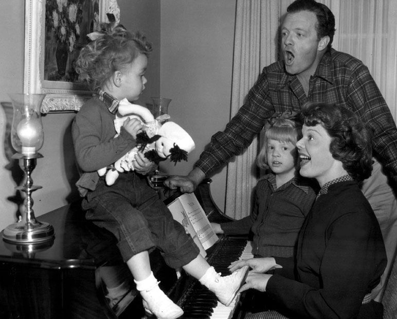 Van Heflin and family *